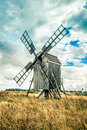 Swedish Traditional Windmill Royalty Free Stock Photo