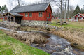 Swedish watermill traditional in early spring season Stock Images