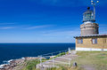 Swedish west coast lighthouse on kullen hill in western sweden Royalty Free Stock Images