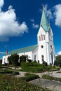 Swedish white church Stock Photography