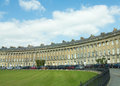 Sweep of the crescent georgian buildings at royal in bath in england Stock Images