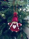 Sweet angel decoration in red Royalty Free Stock Photo