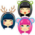 Sweet Animal Headbands Stock Photo