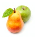 Sweet apples and pears Royalty Free Stock Photo