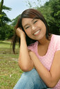 Sweet Attractive Asian / Latino Teenage Girl Stock Photos