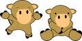 Sweet baby camel cartoon set