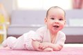 Sweet Baby Crawling Royalty Free Stock Photo