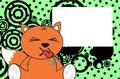 Sweet baby fox expressions cartoon background in vector format Royalty Free Stock Photography