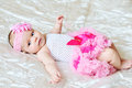 So sweet baby girl wearing tutu skirt Stock Photos