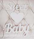 Sweet baby and heart signs Royalty Free Stock Photo