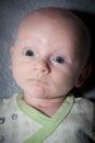 Sweet Baby With Large Blue Eyes Royalty Free Stock Photo