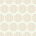Sweet baby pastel star circles geometric seamless repeat pattern vector background.
