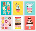 Sweet bakery card set.