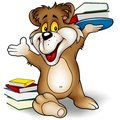 Sweet Bear and Books Royalty Free Stock Photos