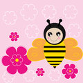 Sweet bee illustration with a Royalty Free Stock Photo