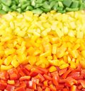 Sweet bell pepper cut into pieces Stock Photography