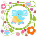 Sweet blue elephant Royalty Free Stock Photos