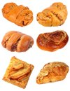 Sweet bread collection snack for meal fresh from the oven Royalty Free Stock Photos