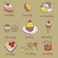 Sweet Cake Background Stock Images