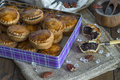 Sweet cakes with poppy seed and nut filling