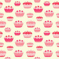 Sweet cakes seamless background.