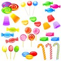 Sweet candies easy to edit vector illustration of colorful Royalty Free Stock Images