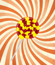 Sweet candy on retro background Stock Image