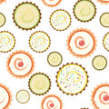 Sweet cape cakes pattern on white background. Seamless.