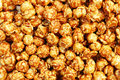 sweet caramel popcorn for pattern and background Royalty Free Stock Photo