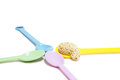 Sweet cashew nut sesame colorful spoon Stock Photography