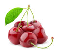 Sweet cherries over white background Stock Photo