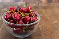 Sweet cherries in plate Royalty Free Stock Photo