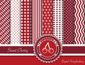 Sweet cherry digital scrapbooking Royalty Free Stock Images