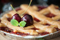 Sweet cherry pie Royalty Free Stock Photo