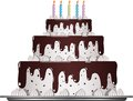 Sweet chocolate cake for a birthday celebration this is file of eps format Stock Photography