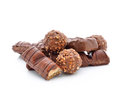 Sweet chocolate candy on white background Royalty Free Stock Photo