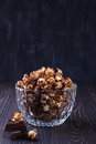 Sweet chocolate popcorn Royalty Free Stock Photo