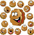 Sweet christmas cookies with funny faces Royalty Free Stock Photo