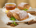 Sweet Cinnamon Pastry Stock Images