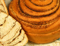 Sweet cinnamon  roll  / bakery  / close-up Stock Image