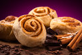 Sweet cinnamon rolls ingredients Royalty Free Stock Photos