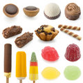 Sweet collection isolated on white background Stock Photos