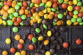 Sweet colorful candy and chocolate bar Royalty Free Stock Photo