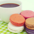 Sweet and colourful french macarons Royalty Free Stock Image
