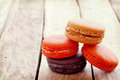 Sweet and colourful french macarons Royalty Free Stock Photos
