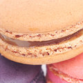 Sweet and colourful french macaroons Royalty Free Stock Photography