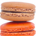 Sweet and colourful macaroons french Stock Photography
