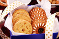 Sweet cookies in gift box Royalty Free Stock Photo