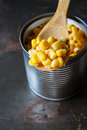 Sweet corn in can Royalty Free Stock Photo