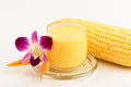 Sweet corn juice drink from natural ingredients that are beneficial to the body Stock Images